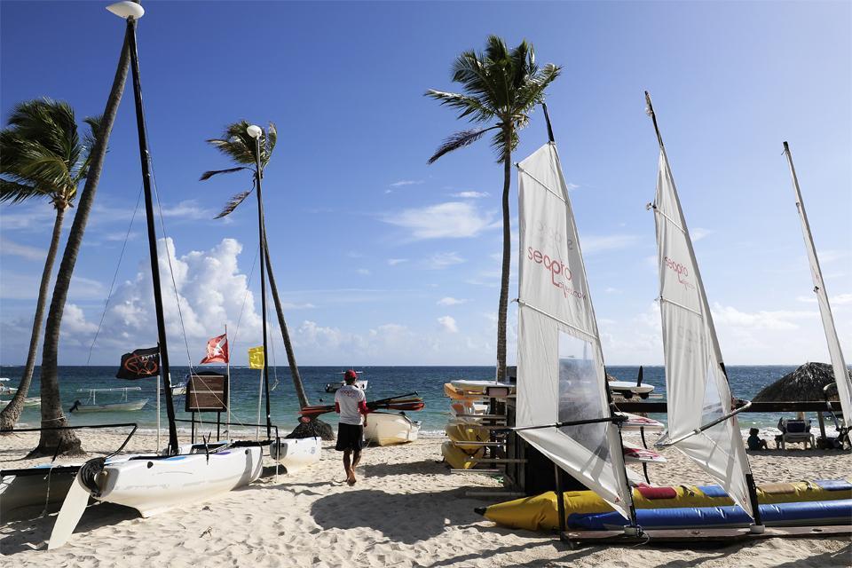 La plage de Cabeza de Toro , République dominicaine