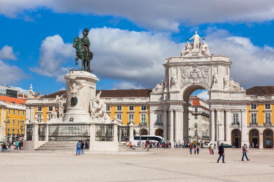 Arc de Rua Augusta à Lisbonne , Portugal