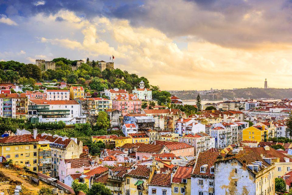 Le Château Saint Georges à Lisbonne , Portugal