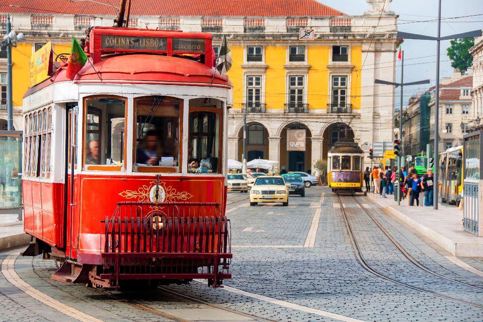 Les tramways de Lisbonne , Portugal