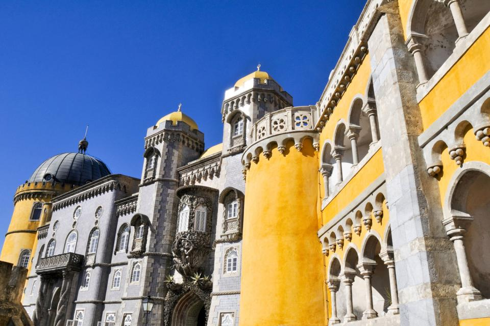 Le Palais de la Pena à Sintra , Portugal