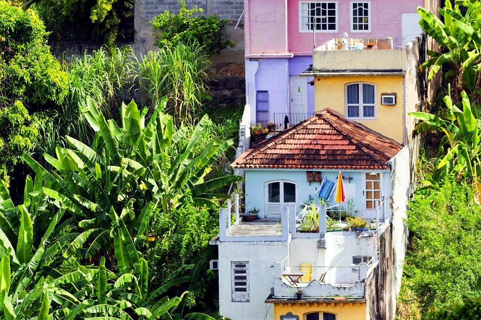 Le quartier de Santa teresa à Rio , Brésil