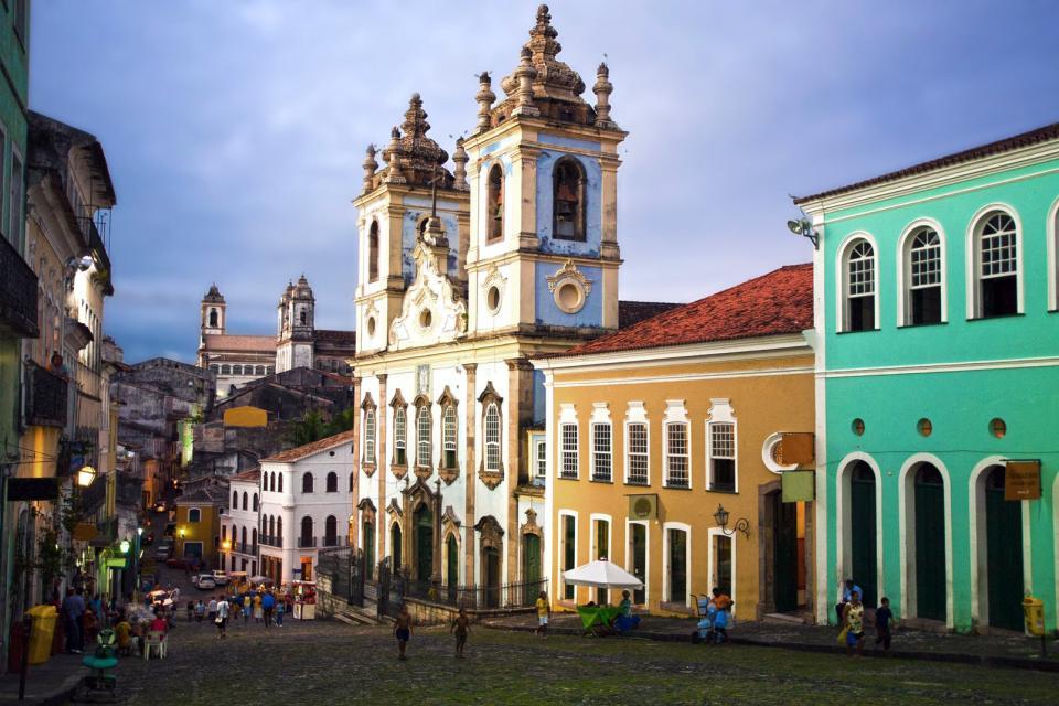 Le Pelourinho à Salvador de Bahia , Une batucada , Brésil