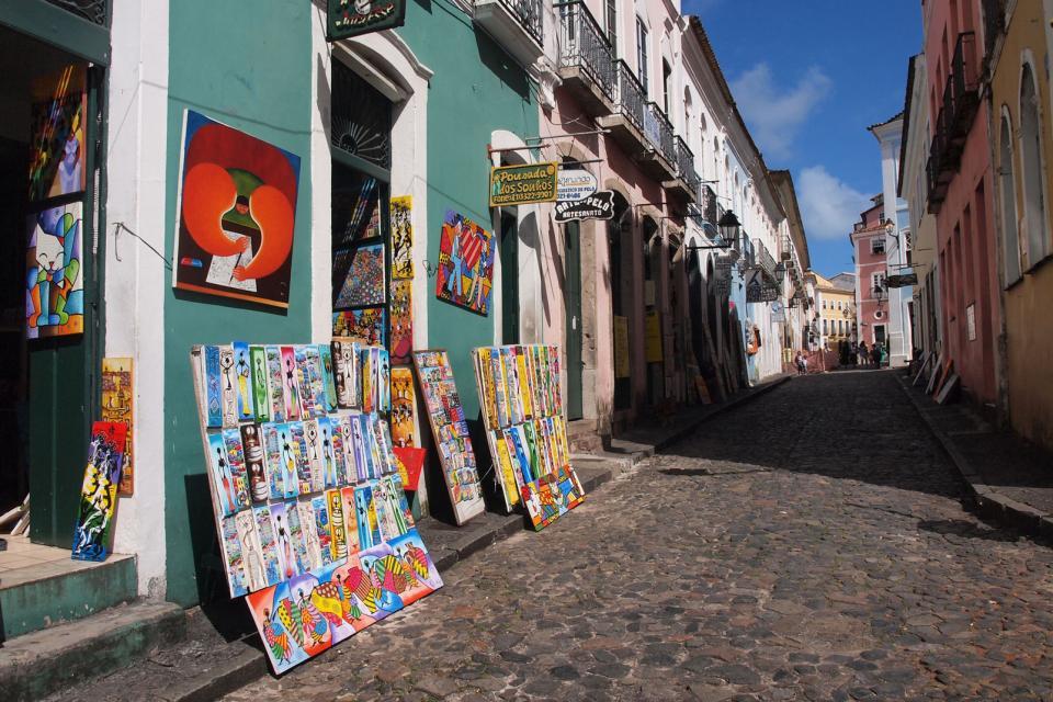 Le Pelourinho à Salvador de Bahia , Joyau du baroque colonial , Brésil