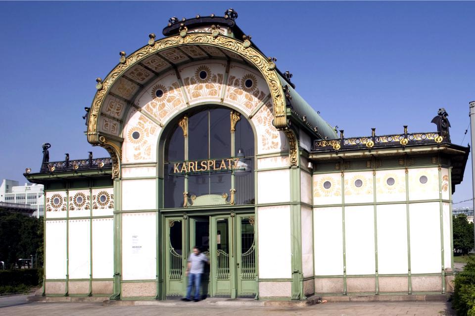 Les pavillons Otto Wagner à Karlsplatz , Autriche