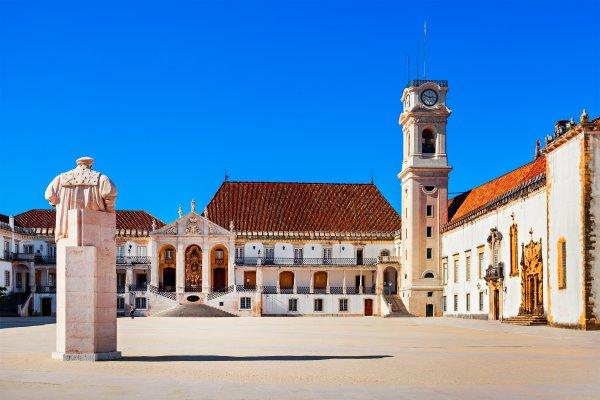 L'université de Coimbra , une des plus anciennes universités au monde , Portugal