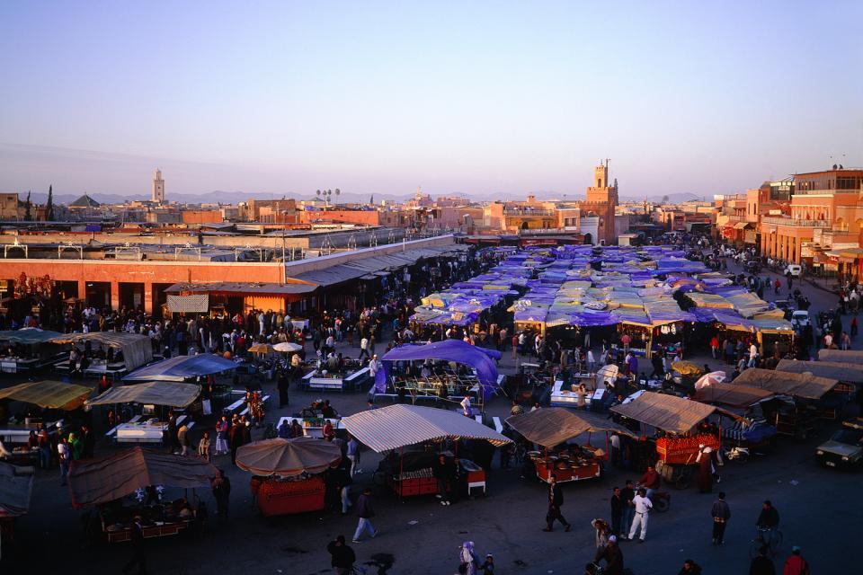 La place Jemna El Fna , Les restaurants ambulants de la place , Maroc