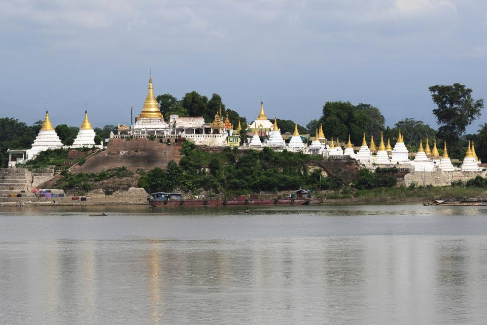 Sagaing, Les arts et la culture, Vue panoramique sur l'Irrawaddy, Birmanie