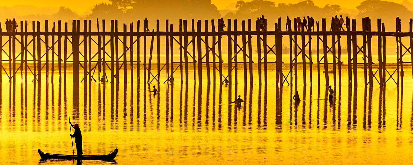 Le pont U Bein , Birmanie