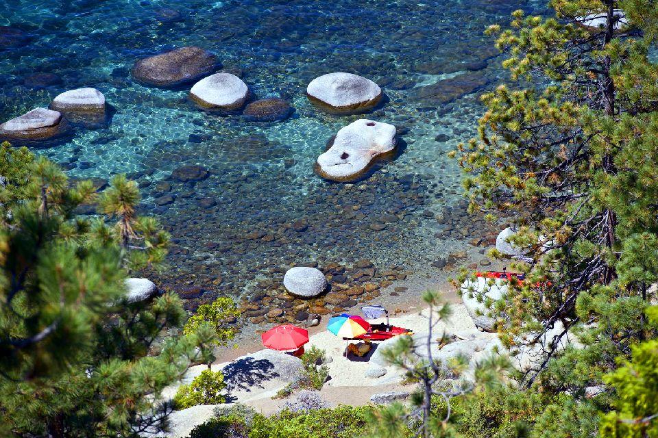 Lac Tahoe , De belles petites criques pour la détente , Etats-Unis