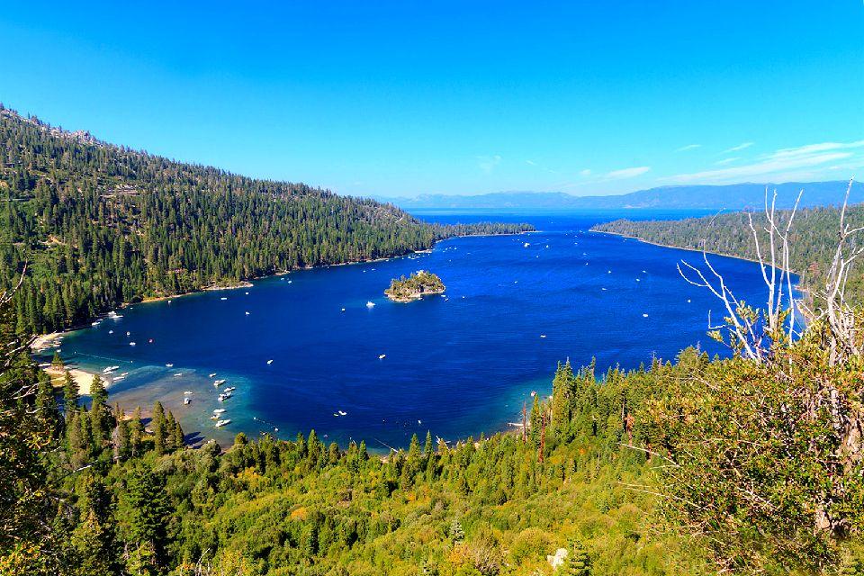 Lac Tahoe , Le plus grand lac alpin d'amérique du Nord , Etats-Unis