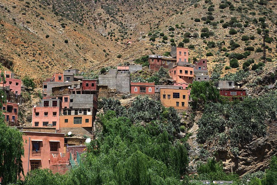 La vallée de l'Ourika , Maroc
