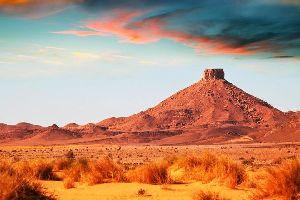 Le désert d'Agafay , Maroc