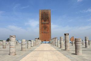 La Tour Hassan de Rabat , Maroc