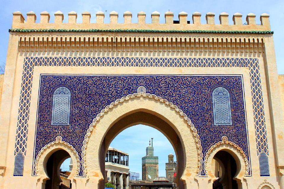 La médina de Fès , Une des portes de la Médina de Fés , Maroc