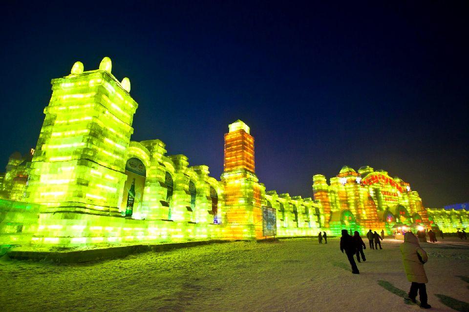 Le festival de sculpture sur glace à Harbin , Chine