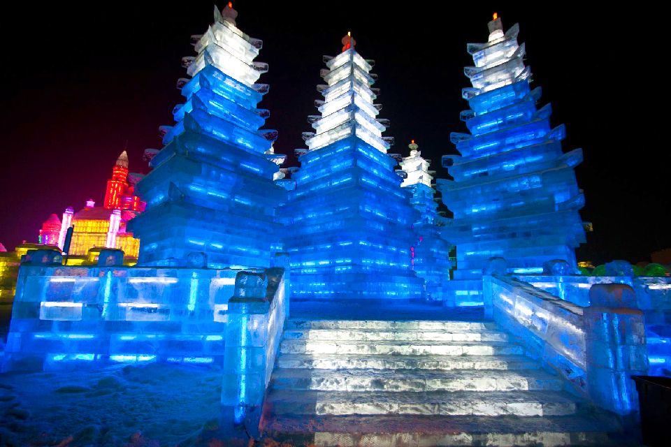 Le festival de sculpture sur glace à Harbin , L'un des plus impressionnants du monde , Chine
