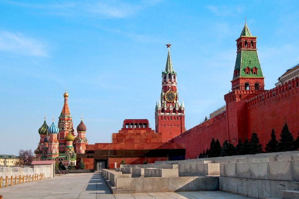Le Mausolée de Lénine , Edifice en granite rouge , Russie