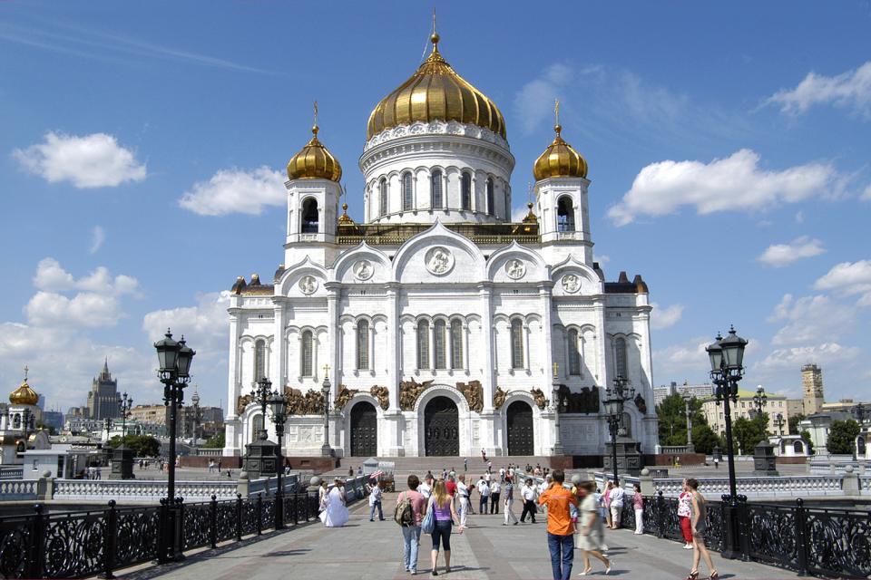 La cathédrale du Christ Saint-Sauveur , Russie