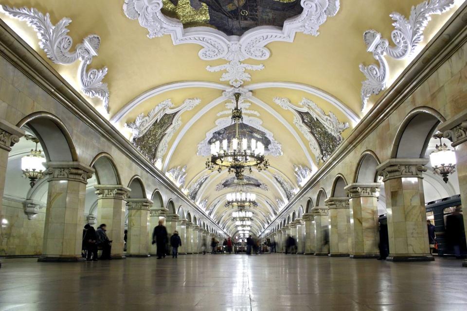 Le métro de Moscou , Russie