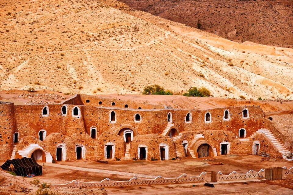 Le décor de Star Wars, Le village de Matmata, Les châteaux du désert, Matmata, Tunisie