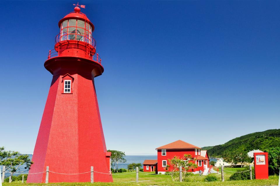 La route des phares , Canada