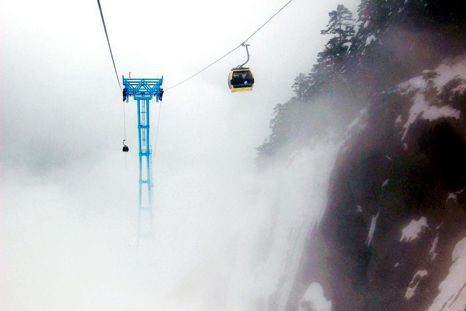 Le Parc du glacier de Hailuogou , Station de ski , Chine