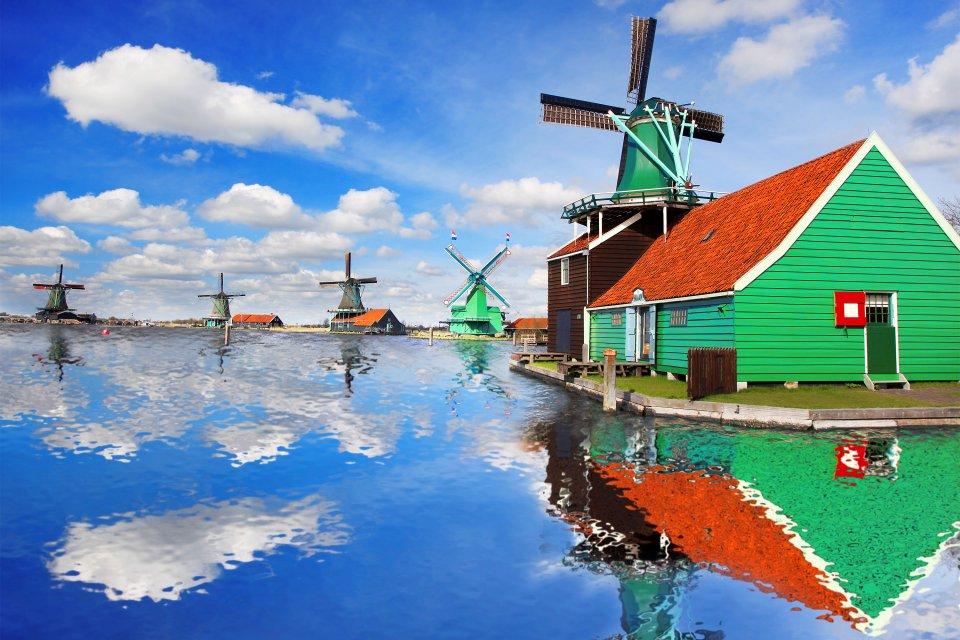 Les moulins hollandais, Les moulins néerlandais, Les arts et la culture, Amsterdam, Pays-Bas