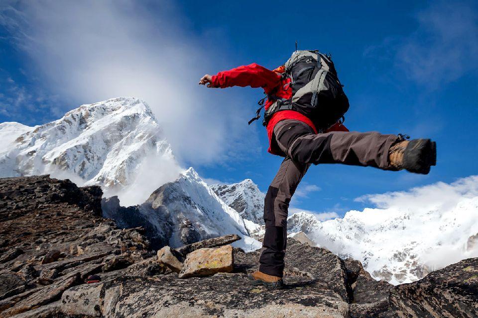 Le Mont Everest , Frontière naturelle , Népal