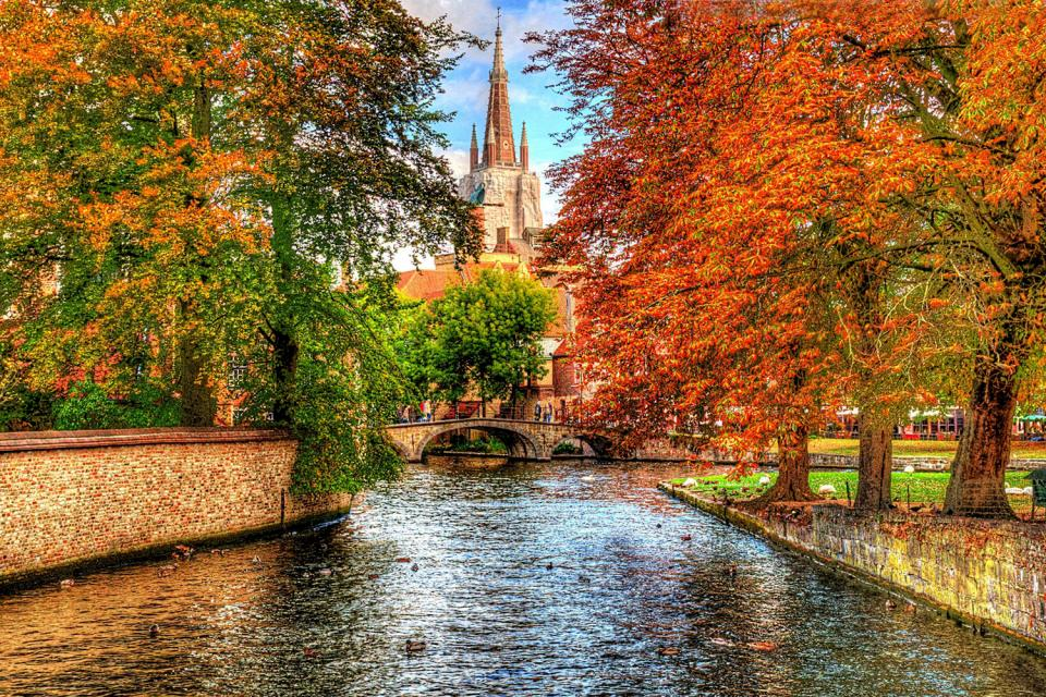 Les canaux de Bruges , Belgique
