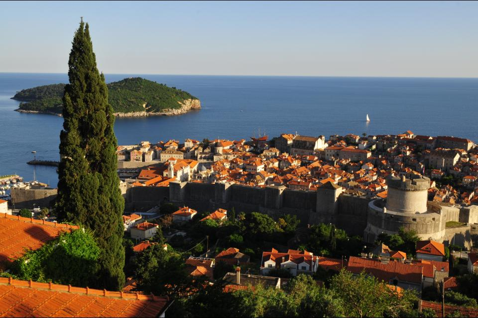 La vieille ville de Dubrovnik , Promenade en ville , Croatie