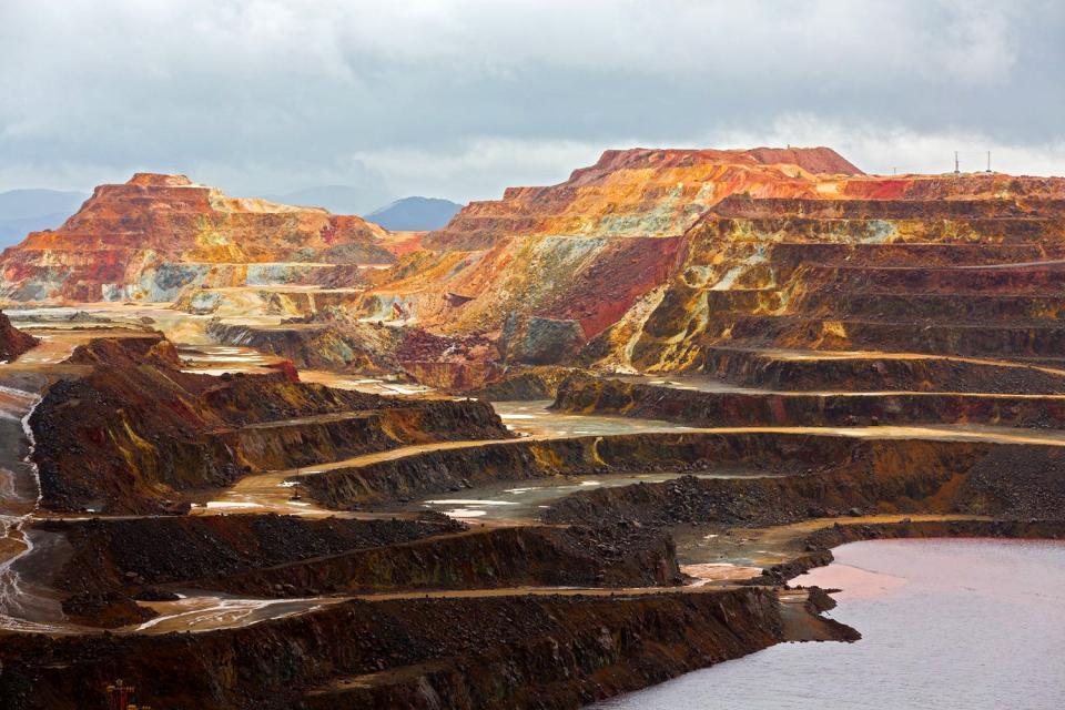 Les mines de Riotinto , Espagne
