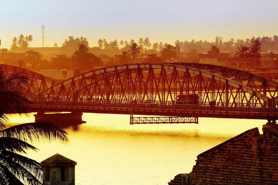 Les côtes, afrique, sénégal, saint-louis, st louis, capitale, ville, pont faidherbe