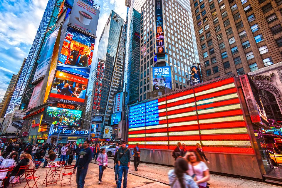 Times Square , Une fôret de Buildings , Etats-Unis