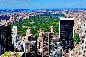 Central Park , Central Park vu d'un toit d'un building , Etats-Unis