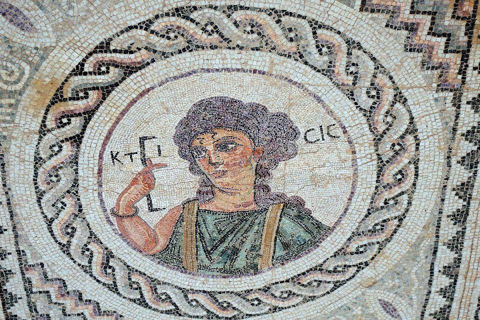 Kourion , Mosaïque de la Maison d'Eustolios , Chypre