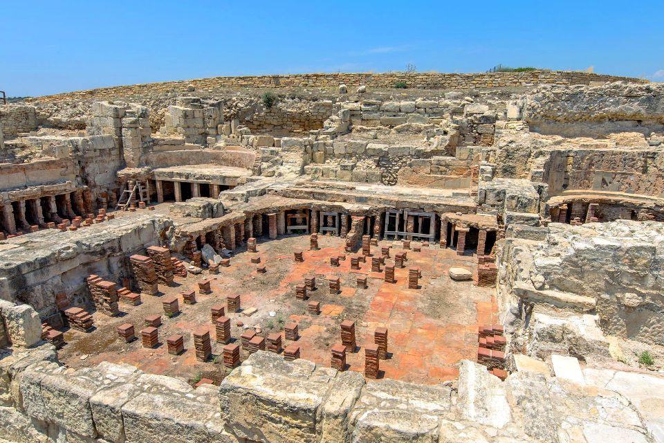 Kourion , Les bains publics de Kourion , Chypre