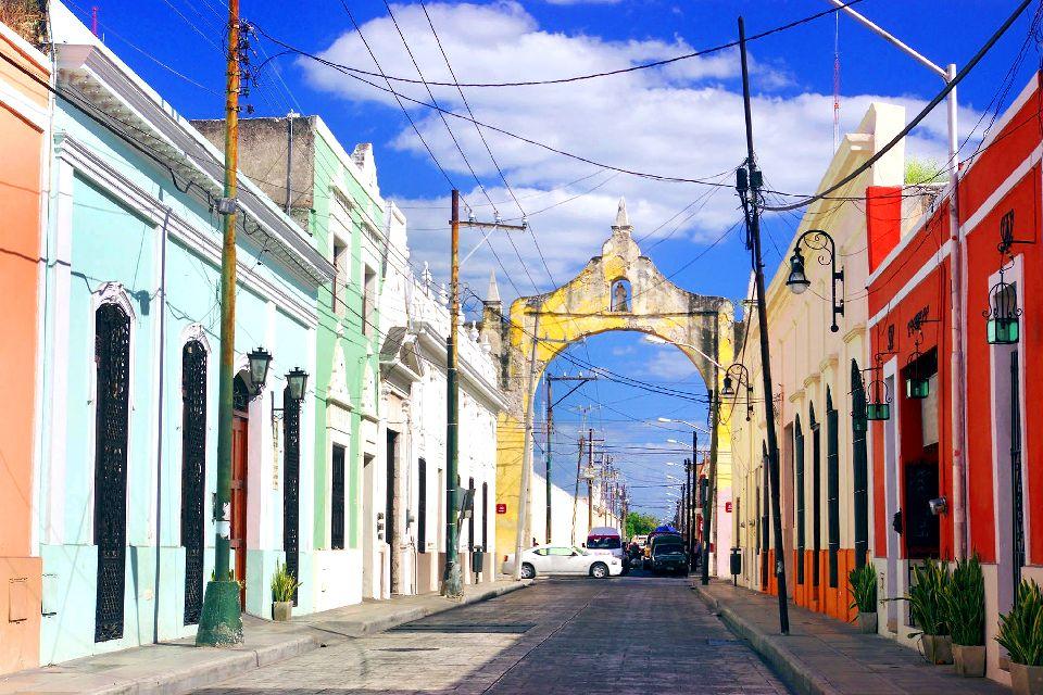 La vieille ville de Mérida , Mexique