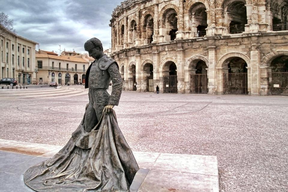 Les arènes de Nîmes , France