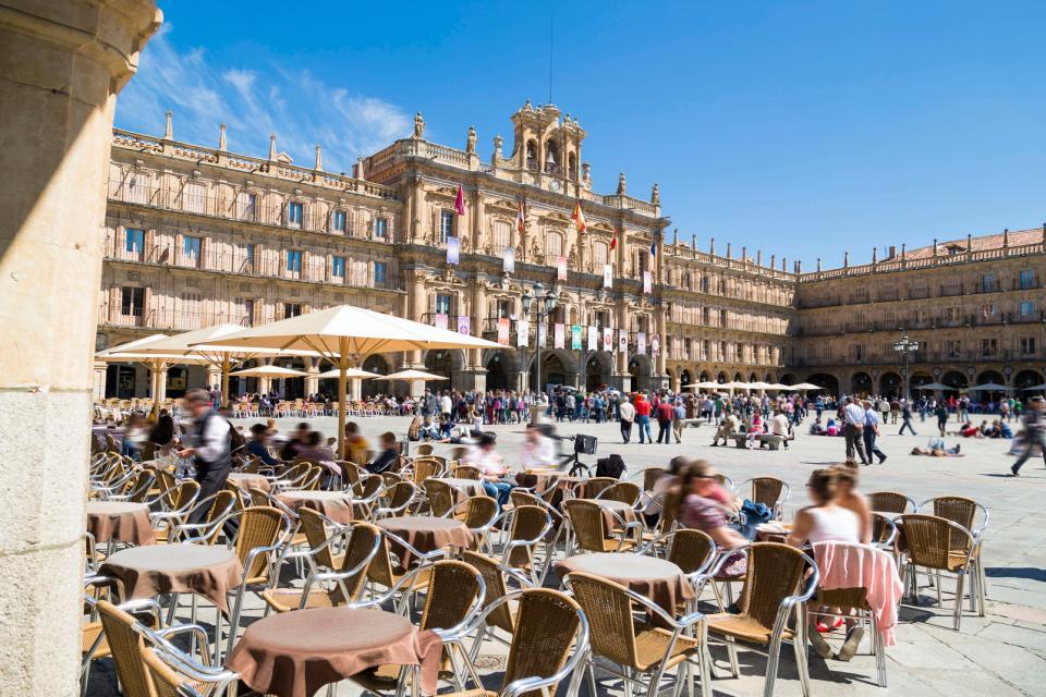 La Plaza Mayor de Salamanque , Espagne