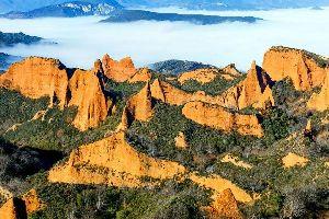 Les mines d'or romaines de Las Médulas , Espagne