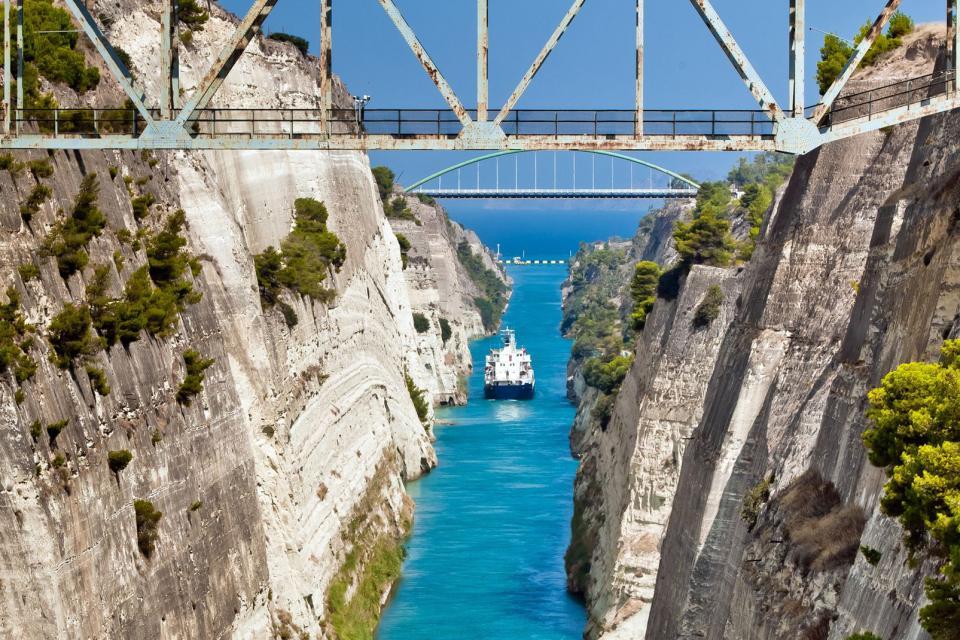Le canal de Corinthe , Grèce