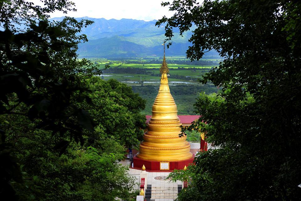 La pagode Su Taung Pyai à Mandalay Hill , Birmanie , Myanmar