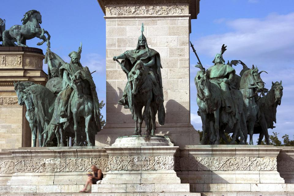 La place des Héros à Budapest , Hongrie