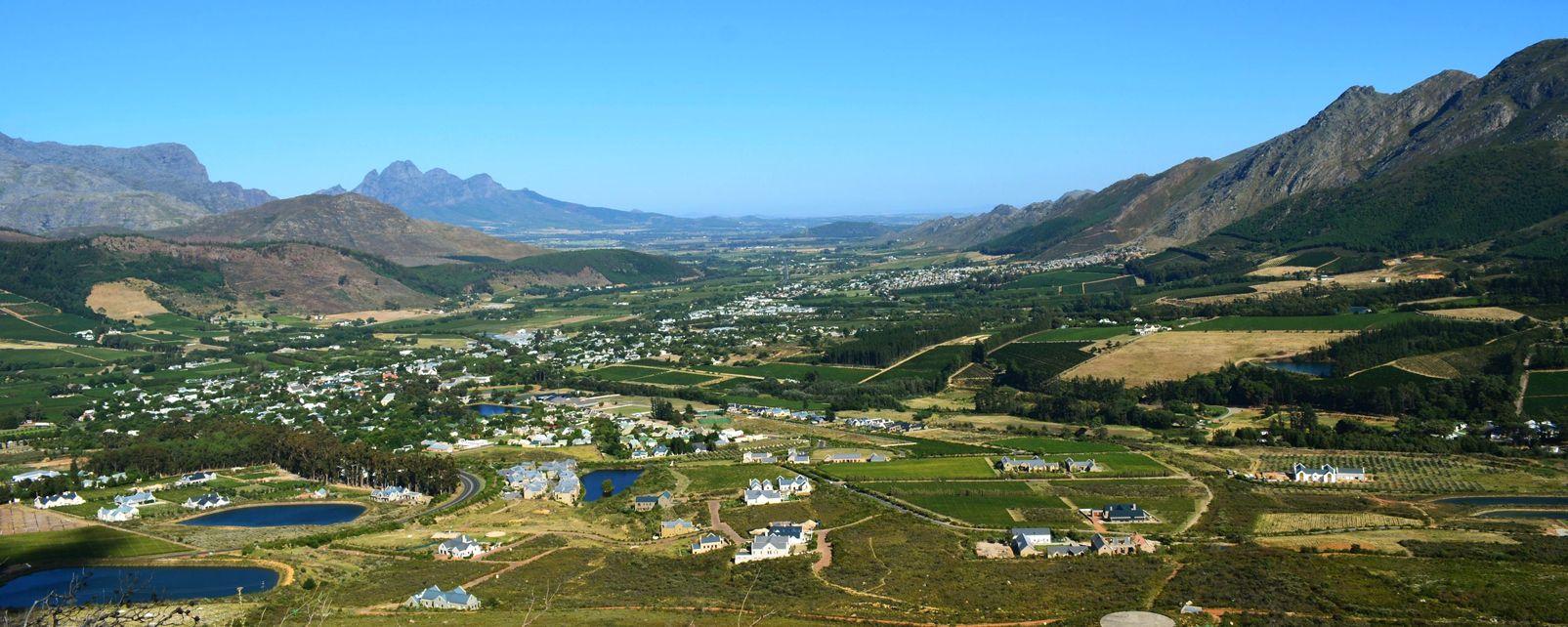 La route des vins, franschhoek, vin, vignoble, agriculture, afrique, afrique du sud