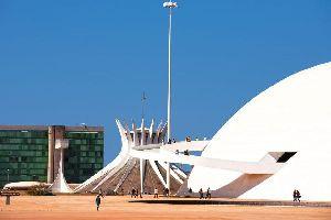 La cathédrale de Brasilia , Brésil