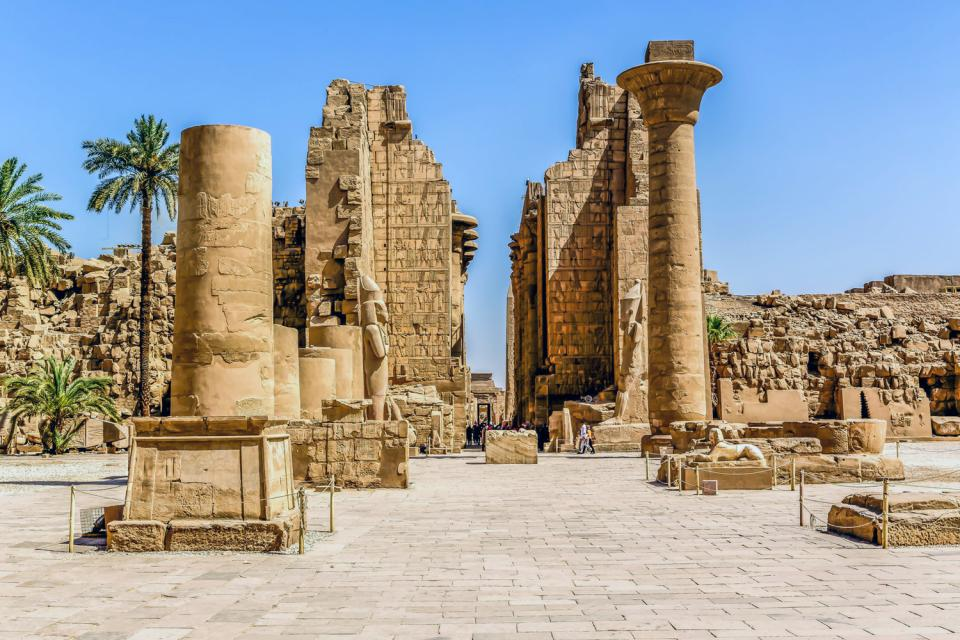 Les temples de Karnak , Le temple d'Amon-Rê , Egypte