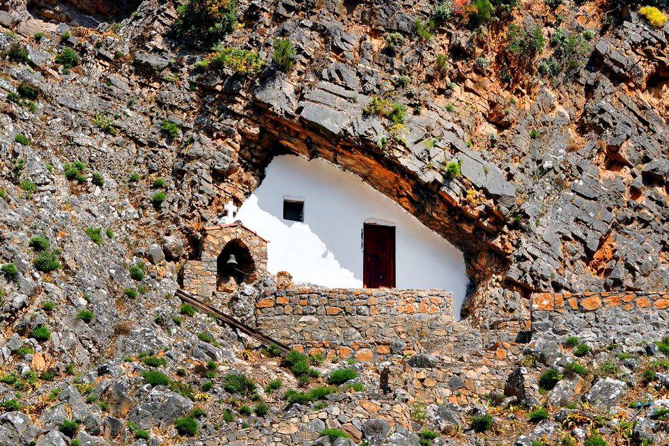 Un lieu de culte troglodyte, Les Gorges de Samaria, Les paysages, Heraklion, Crète