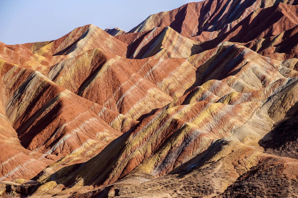Les paysages, chine, asie, danxia, zhangye, gansu, montagne, couleur, grès