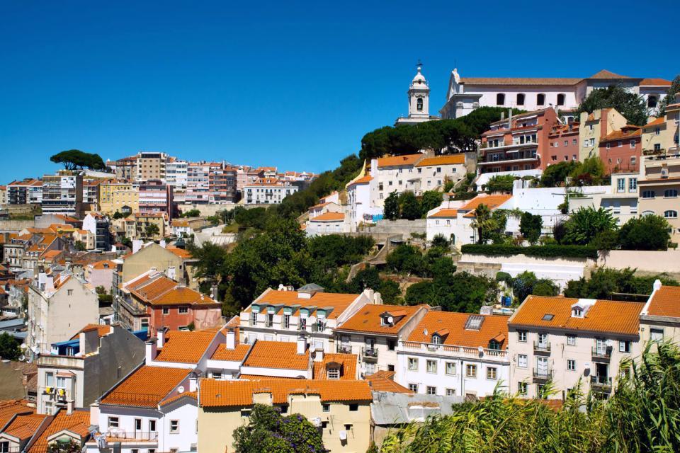 Le Bairro Alto de Lisbonne , Portugal
